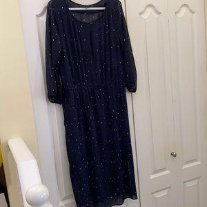 Aritzia Babaton pleaded quality lined dress